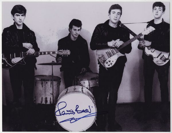 Beatles Pete Best Signed Photograph