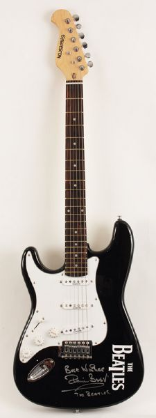 Pete Best Signed Electric Guitar