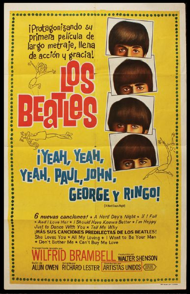 "The Beatles ""A Hard Days Night"" Original Argentinian Movie Poster"