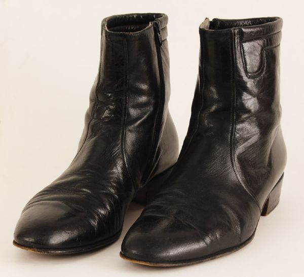 Elvis Presley 1968 Comeback Special Stage Worn Black Leather Boots