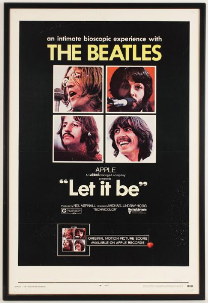 The Beatles Let It Be Original Poster