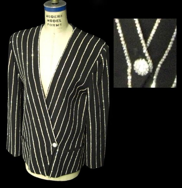 Liza Minnelli Worn Andre Van Pier Custom Made Crystal Rhinestone Jacket