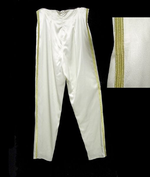 Princess Diana of Wales Worn Andre Van Pier Custom Made White Satin Pants