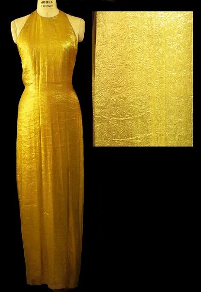 Andre Van Pier Custom Made  Gold Collection Long Evening Dress