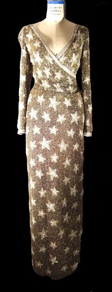Sophia Loren Worn Andre Van Pier Custom Made Bead & Sequin Evening Gown