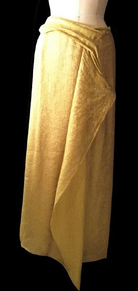 Andre Van Pier Custom Made Gold Collection Evening Skirt