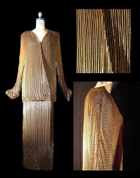 Sophia Loren Worn Andre Van Pier Custom Made Beaded Skirt Set