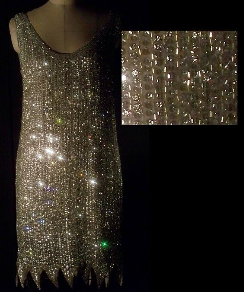 Liza Minnelli Worn Andre Van Pier Custom Made Bead & Sequin Dress