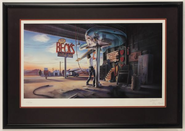 Jeff Beck's Guitar Shop Limited Edition Lithograph Signed by Artist