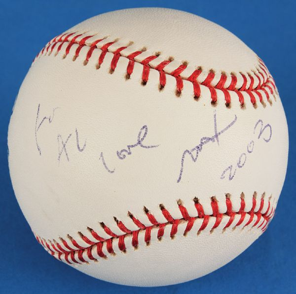 Peter Max Signed & Inscribed Baseball