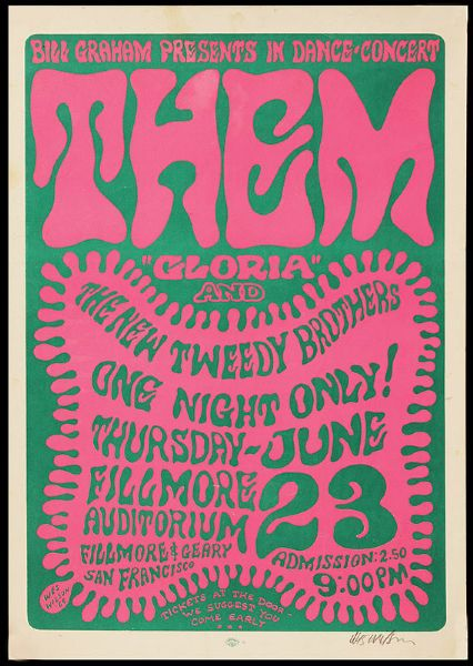 THEM Original Poster Signed by Wes Wilson