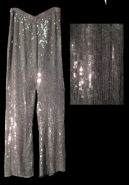 Princess Diana of Wales Worn Andre Van Pier Custom Made Silver Sequin Pants