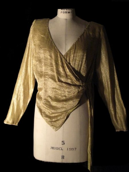 Andre Van Pier Custom Made Gold Collection Blouse