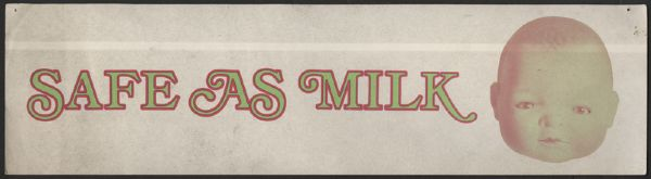 "Captain Beefheart ""Safe As Milk"" 1967 Original Bumper Sticker"