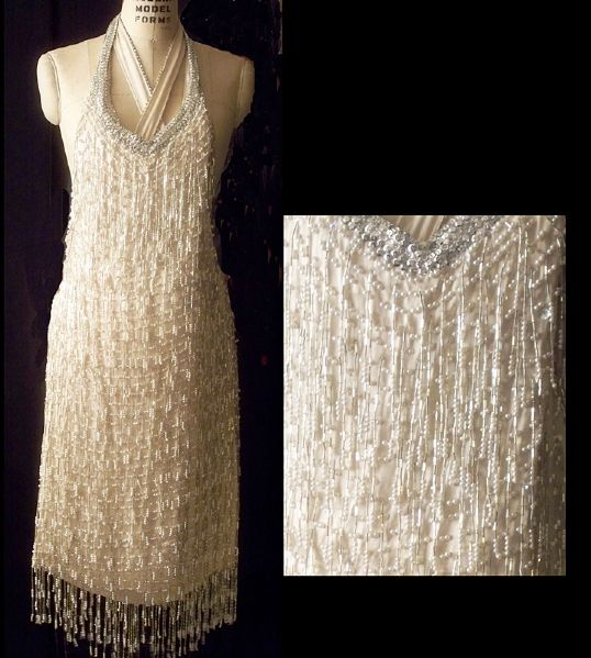 Liza Minnelli Worn Andre Van Pier Custom Made Beaded Peau d'Soi Dress