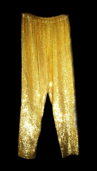 Princess Diana of Wales Worn Andre Van Pier Custom Made Gold Sequined Pants