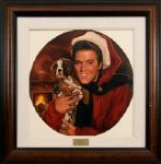 "Elvis Presley ""Hound Dog Christmas"" Oil Painting by Ralph Wolfe Cowan"