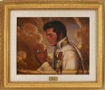 """Praying Elvis"" Oil Painting by Ralph Wolfe Cowan"