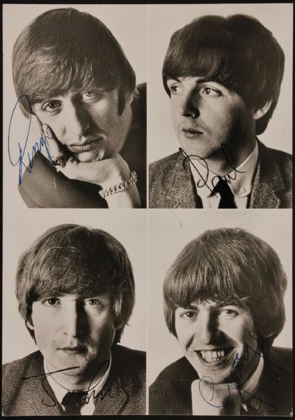 The Beatles Fan Club Original Photo Card
