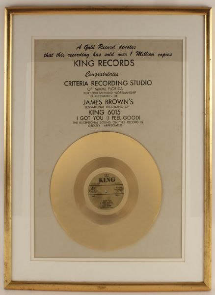 "James Brown ""I Got You (I Feel Good)"" Gold Award"