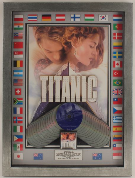 Titanic Soundtrack Multi-Platinum CD Award