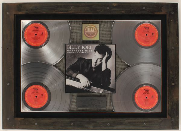 Billy Joel Greatest Hits Volume 1 & 2 Multi-Platinum RIAA Award