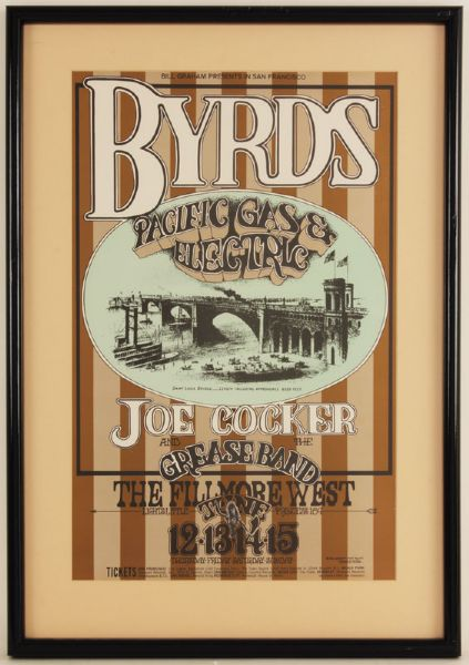 The Byrds Original Concert Poster