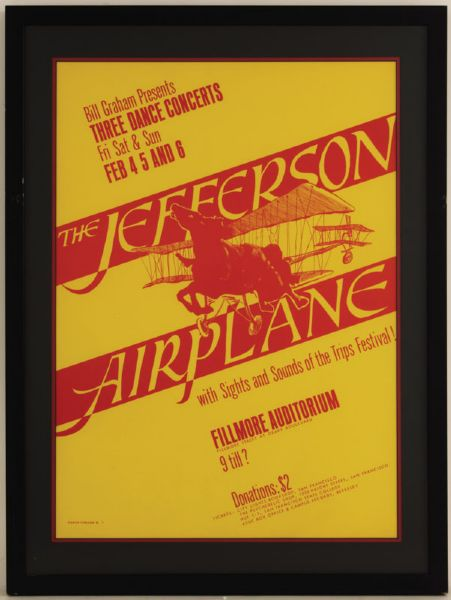 Jefferson Airplane Original Concert Poster