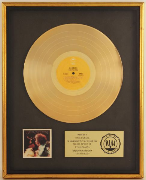 Labelle Nightbirds RIAA Certified Gold Album Award