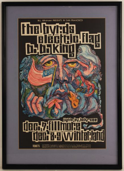 The Byrds, B.B. King Original Concert Poster