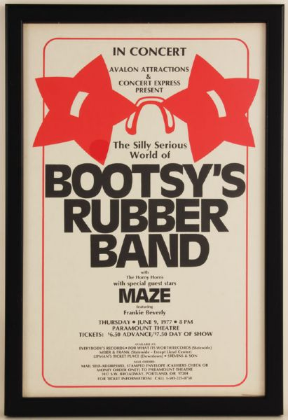 Bootsy's Rubber Band Original Concert Poster