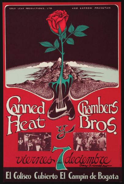 Canned Heat and Chambers Brothers. Original Concert Poster