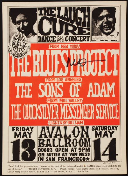The Blues Project Signed Original Concert Poster