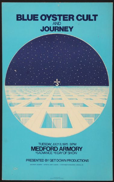 Blue Oyster Cult and Journey Original Concert Poster