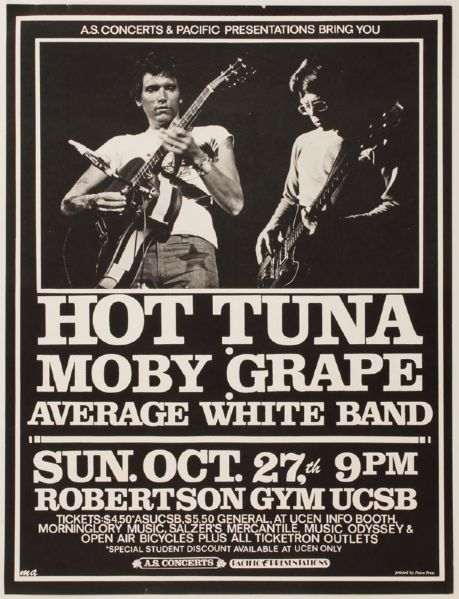 Hot Tuna Original Concert Poster