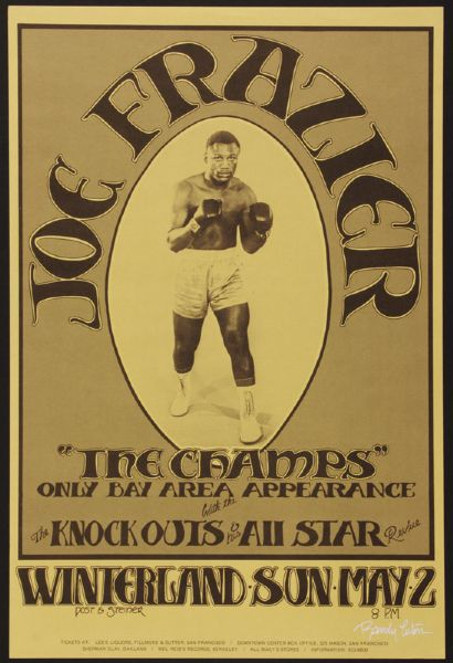 Joe Frazier The Champs Original Concert Poster Signed by Artist