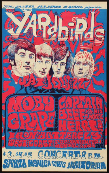 The Yardbirds Original Concert Poster