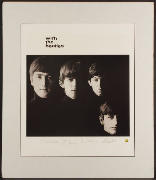 With The Beatles Original Lithograph