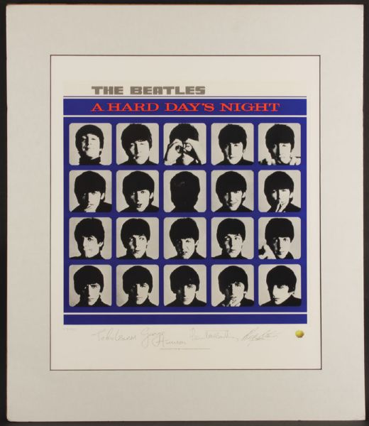 A Hard Day's Night Original Lithograph