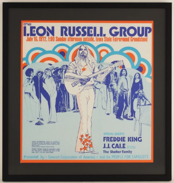 The Leon Russell Group Original Concert Poster