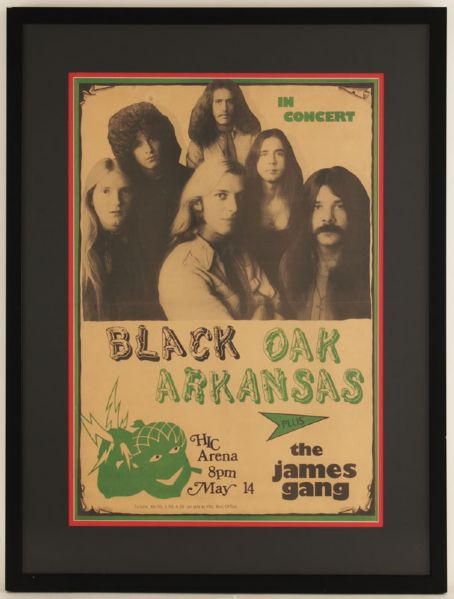 Black Oak Arkansas Original Concert Poster