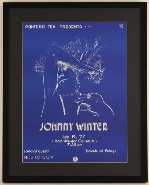 Johnny Winter Original Concert Poster