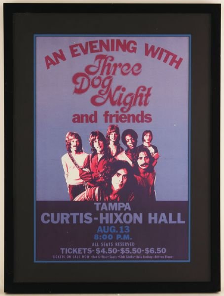 Three Dog Night Original Concert Poster