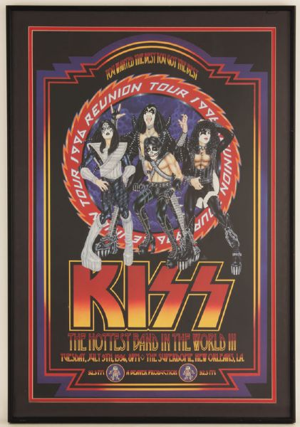 KISS 1996 Reunion Tour Original Concert Poster