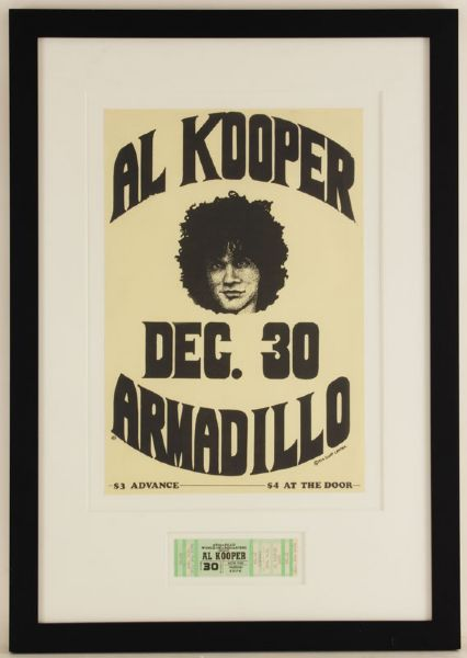 Al Kooper Original Concert Flyer and Ticket
