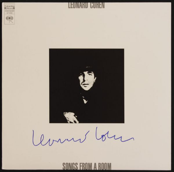 Leonard Cohen Signed Songs From A Room Album