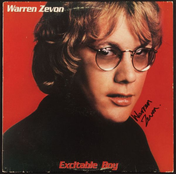 Warren Zevon Signed Excitable Boy Album