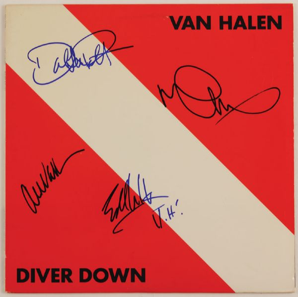 Van Halen Signed Diver Down Album