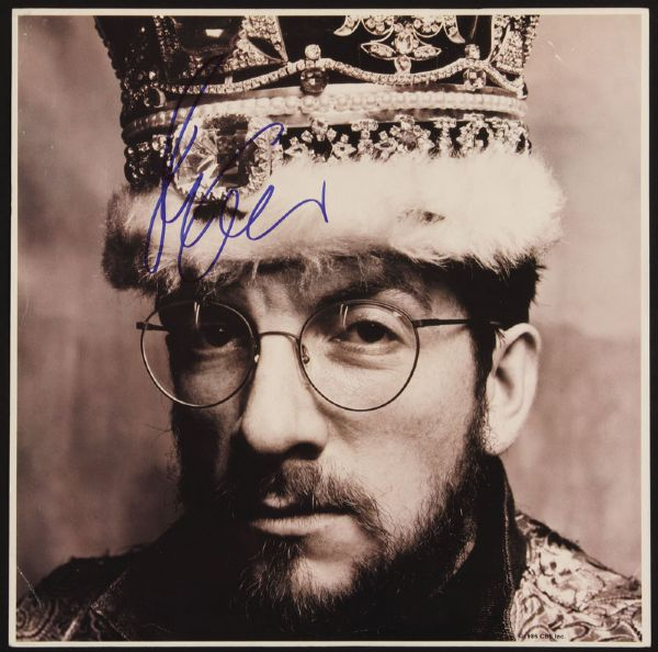 Elvis Costello Signed King of America Album Insert