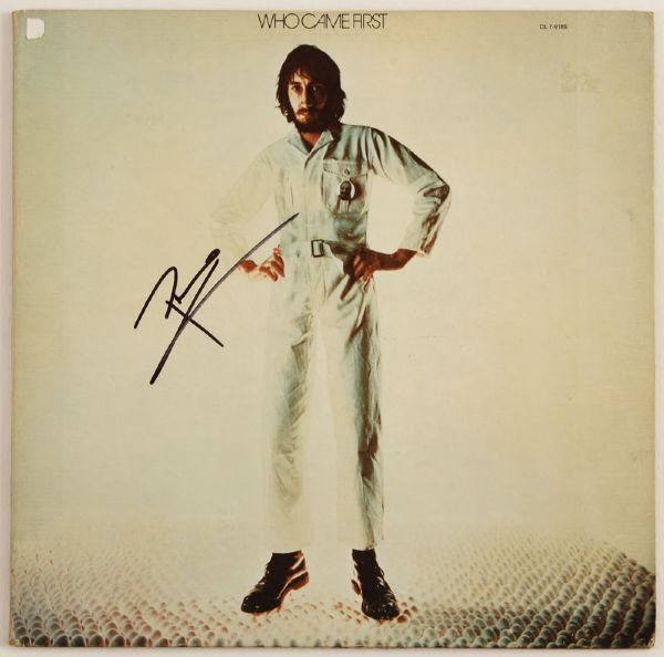 Pete Townshend Signed Who Came First Album